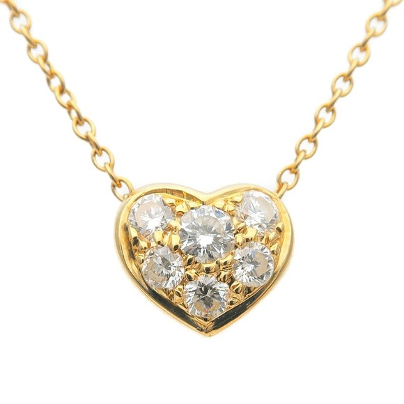 9c87b1d0d Tiffany & Co. Jewelry   Tiffany Co Diamond Pave Heart 18k Gold ...
